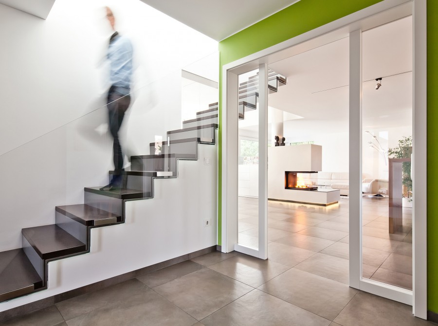 Neubau Haus Treppe Münster