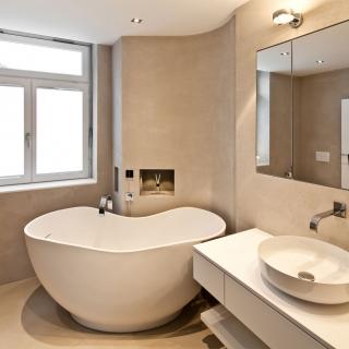 Umbau Badezimmer mit freistehender Badewanne