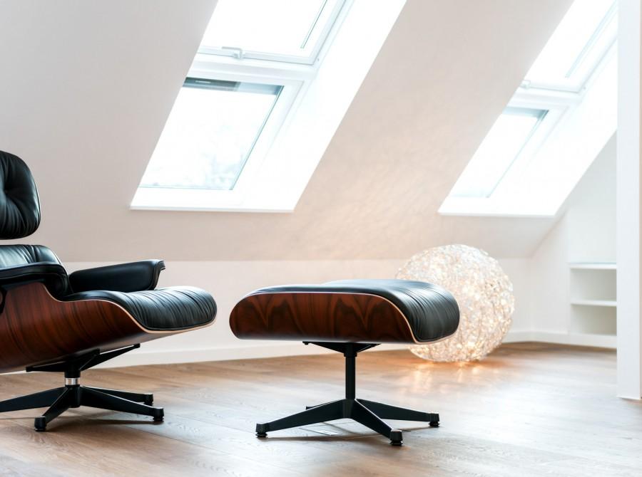 Innenarchitekturkonzept unter dem Dach in Düsseldorf
