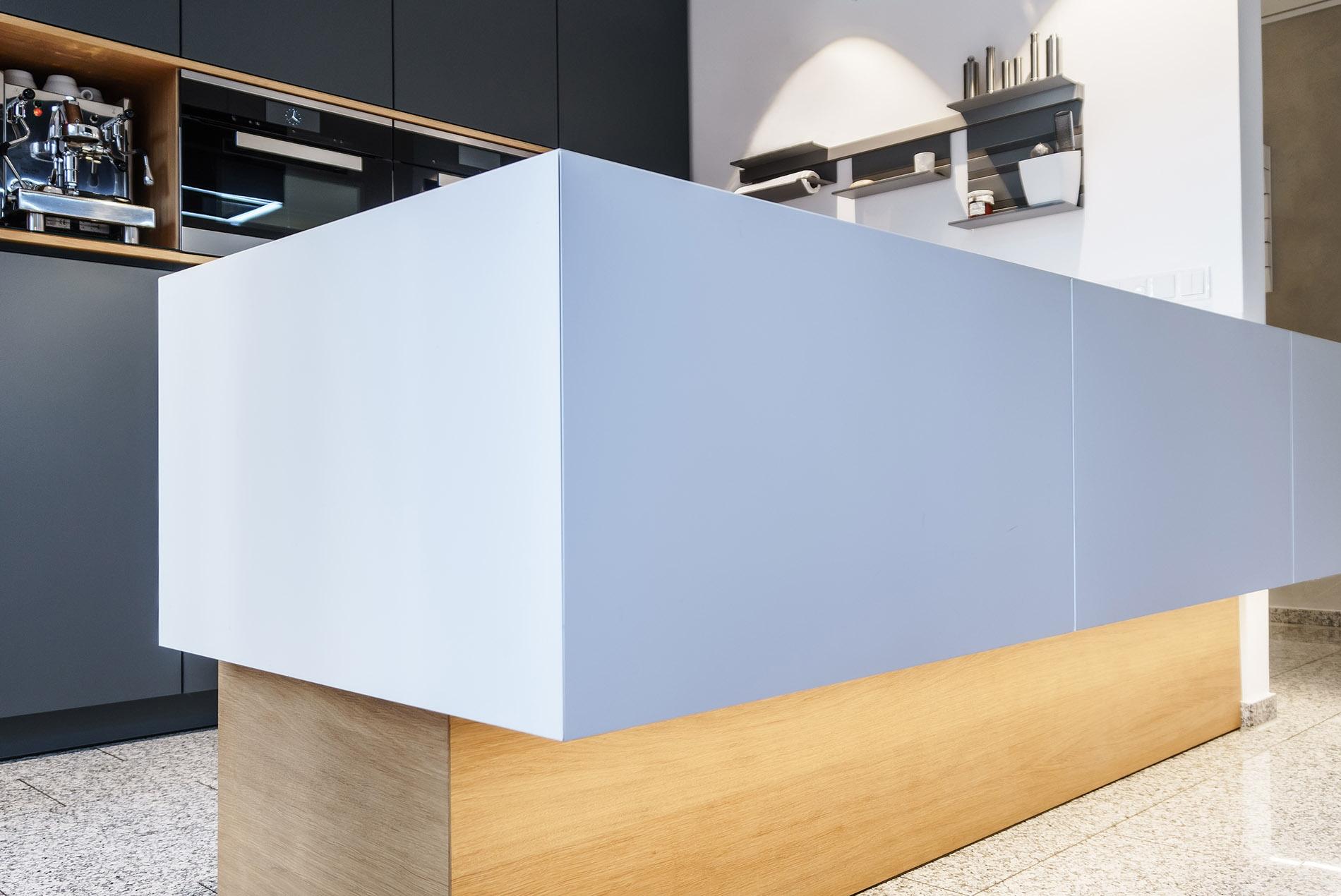renovierung offene k che mit grauen fronten raumfabrik m nster. Black Bedroom Furniture Sets. Home Design Ideas