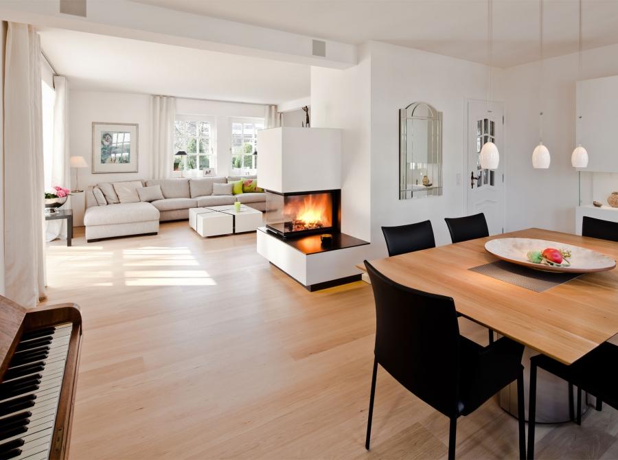 Umbau Wohnzimmer mit Kamin